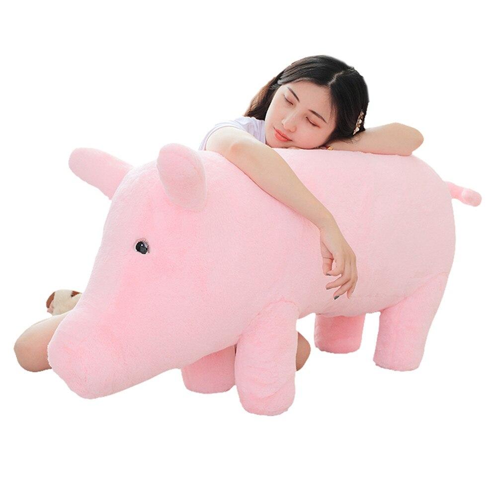 fancytrader 43 giant giant gigante simulacao porco lifelike pelucia recheado porco brinquedo elefante porco sofa criancas