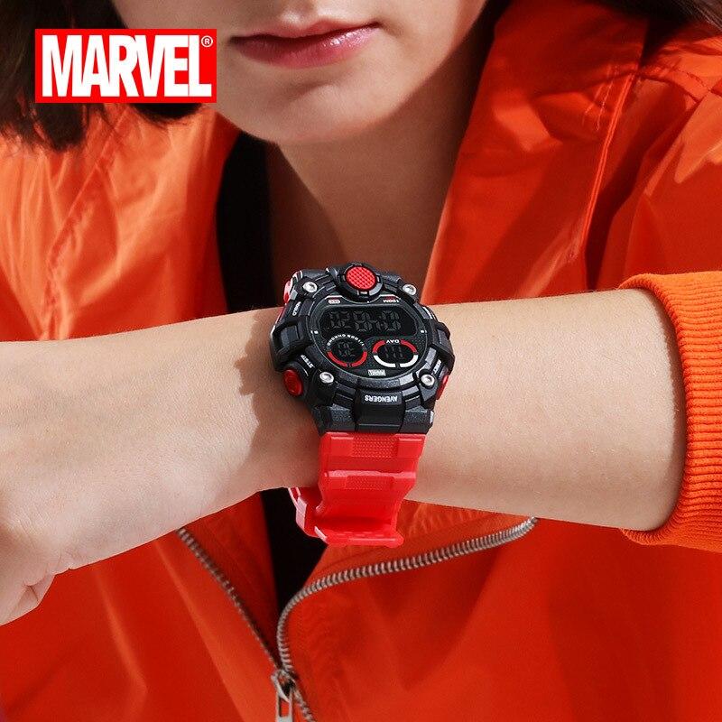 Мужские спортивные часы, двойной дисплей, аналоговый цифровой светодиодный, электронные кварцевые наручные часы, водонепроницаемые, 50 м, ал... - 2