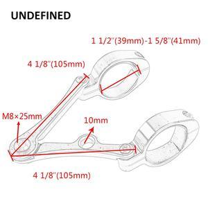 Image 5 - Универсальный мотоциклетный кронштейн для вилки и фары, 39 41 мм