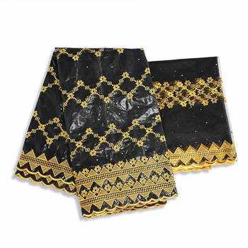 bazin riche 2020 new design beaded bazin riche fabric tissu african bazin lace with embroidery and stones ! WX20809