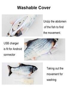 30 см электрическая игрушка для домашних животных, USB зарядное устройство для рыбы, интерактивные реалистичные игрушки для жевания котов, кошачья игрушка для гибких Рыбок