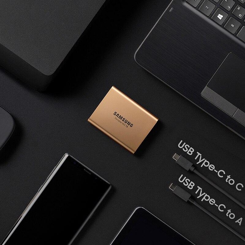 Samsung T5 SSD portátil 250GB 500GB 1TB 2TB USB3.1 unidades de estado sólido externo USB 3,1 Gen2 y compatible con atrás para PC - 4