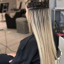 HiArt 0,8 г/локон с плоским наконечником для наращивания волос для салонов с двойным нарисованным Человеческие волосы Remy Заводские кератиновые...