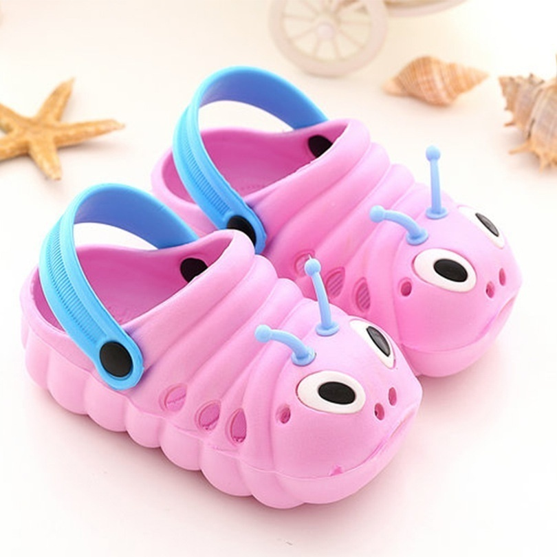 Casual Fashion Summer Toddler  Baby Boys Girls Cute Caterpillars Beach Sandals Slippers Flip Shoes For Kids