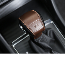 Lsrtw2017 Genuine Leather Car Gear Lever Cover Trims for Skoda Kodiaq GT Interior Mouldings Accessories