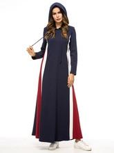 Diwish Sweatshirt Hoodies Kpop Women Muslim Clothing Stripe Cotton Pullovers Long Sleeve Tops Thicken Coats
