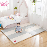 Infant Shining Baby PlayMat 4CM Thickness Play Mat 120X160CM Large Mat Waterproof 4 fold Baby Play Mat Children Game Mat