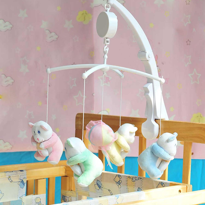 Caja de música mecánica cuerda-up movimiento Musical para bebés recién nacidos cuna cama cochecito riel juguetes para niños