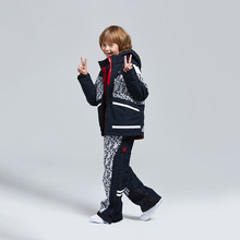 Children's Youth Ski Suit winter fashion trend warm, windproof and waterproof, outdoor sports, cotton suit, upper and lower garm