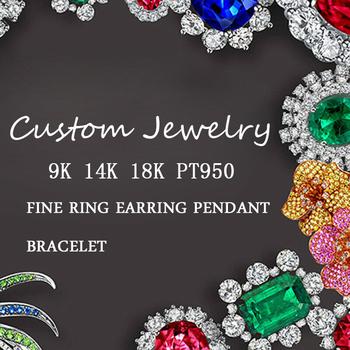Dostosuj usługę biżuterii niestandardowy pierścionek moissanite diamentowy pierścionek lub pierścionek ze szmaragdem pierścionek z rubinem w 14K 18K Pt950 3D opłata tanie i dobre opinie AEAW jewelry SILVER 925 sterling CN (pochodzenie) Kobiety Drobne Wykończenie oprawy Brak Pierścionki Kwiat Klasyczny