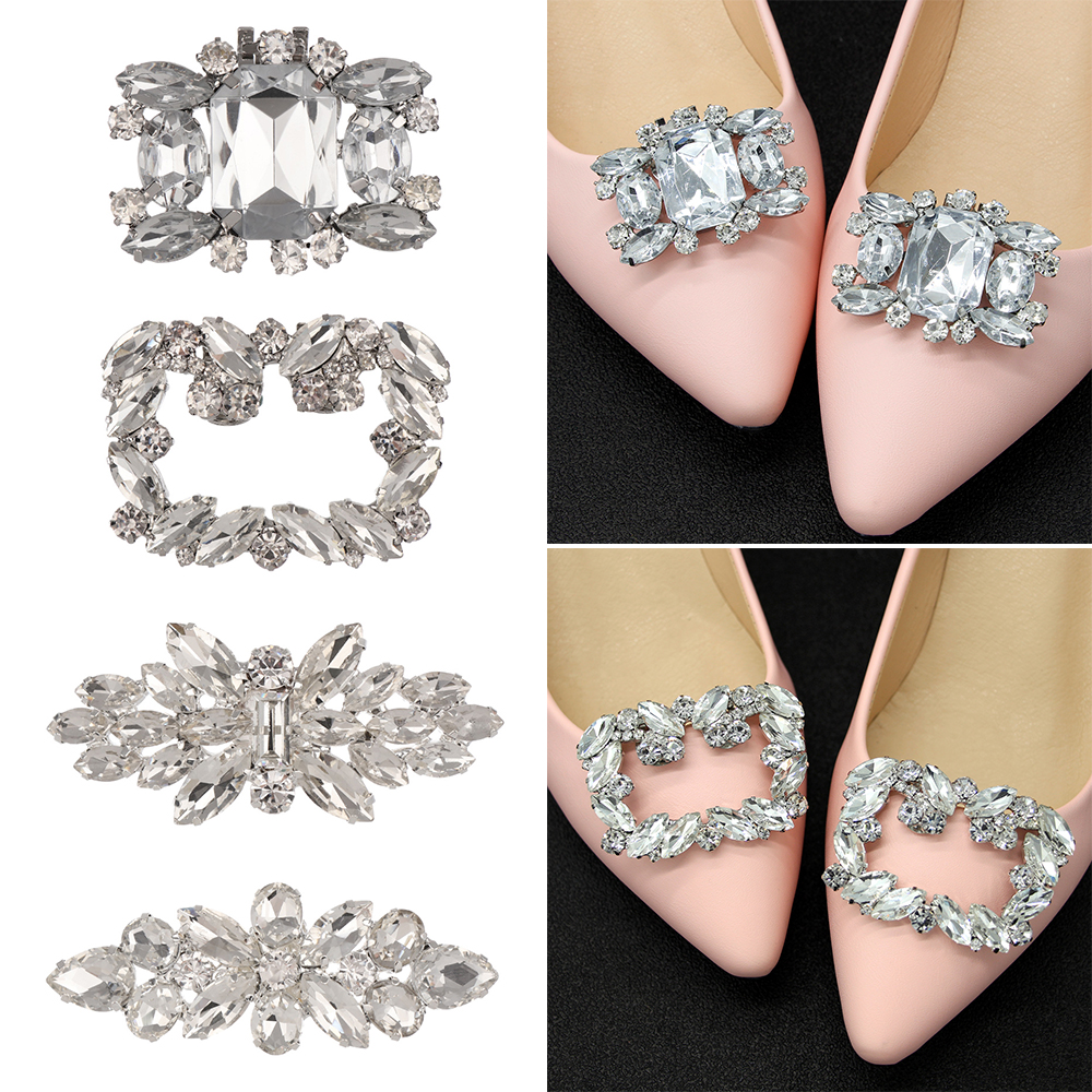 1PC Women Shoes Decoration Clips Crystal Shoes Buckle Bridal Charm XS