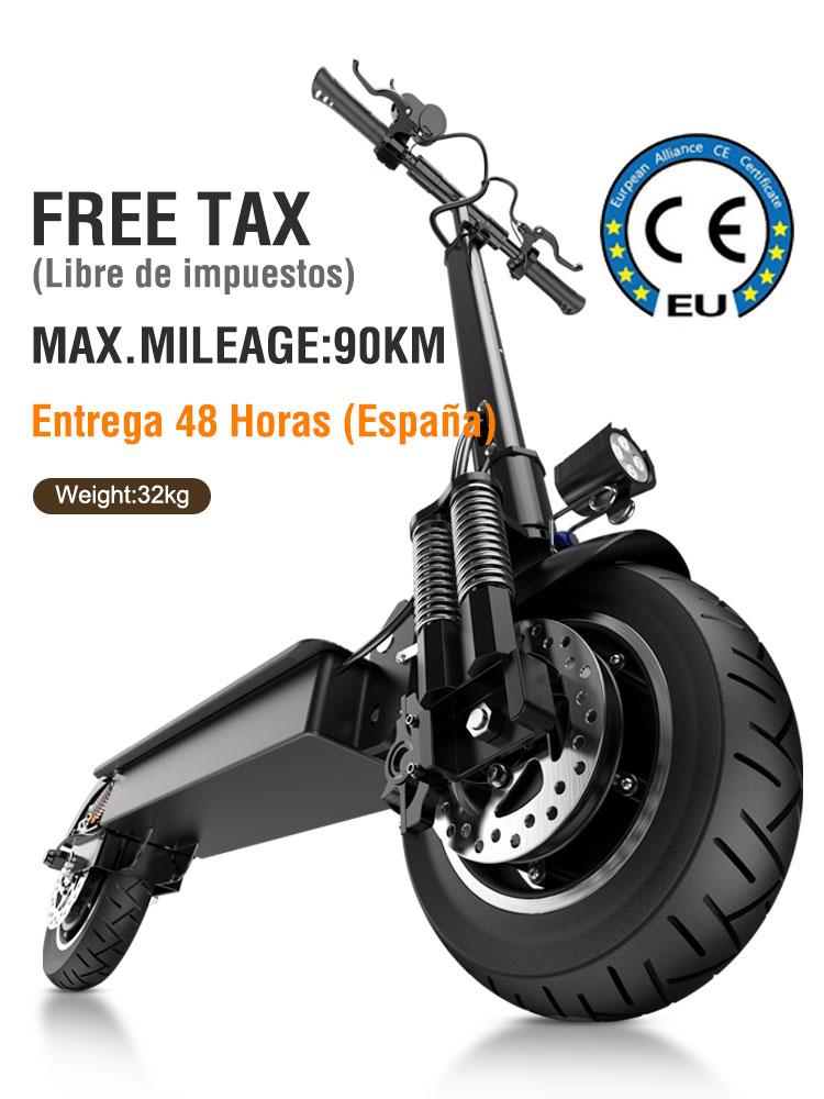 Janobike 100% оригинальный T10 электрический скутер 52 в 2000 Вт 10 дюймов складной электрический скутер двойной двигатель электрический мотоцикл
