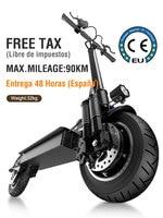 Janobike-patinete eléctrico T10 para adulto, Scooter plegable de doble Motor, 52V, 10 pulgadas, 2000W
