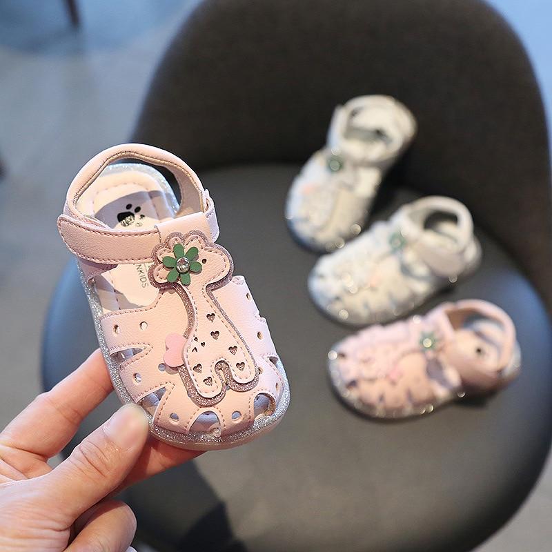 Summer Children Kids Infant Girls Bowknot Sandals Non-Slip Princess Casual Shoes