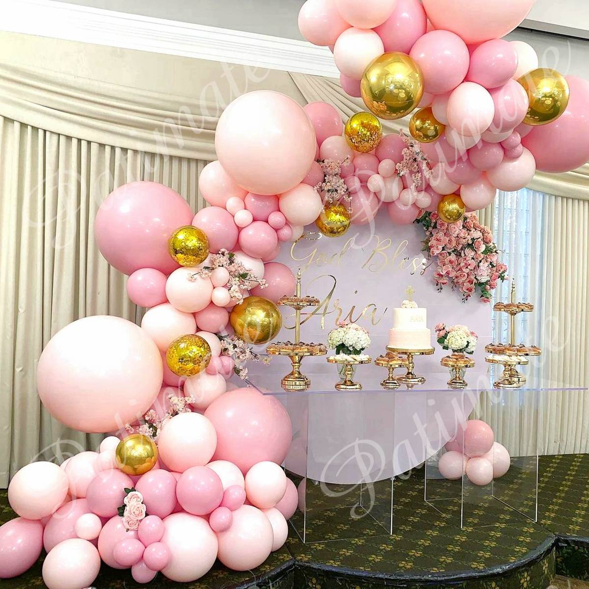 Macaron Pink Balloon Garland Arch Kit Wedding Birthday Party Decoration Kids Globos Rose Gold Confetti Latex Ballon Baby Shower 4
