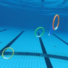 4 4 Pcs Diving Rings Safe Kids Bathing Swimming Pool Outdoor Water Entertain Diving Buoy Toy Intelligence Educational Toys Gift outdoor swimming diving regulator bracket tool mounting pressure protable diving equiment hose hook breathing spare accessories