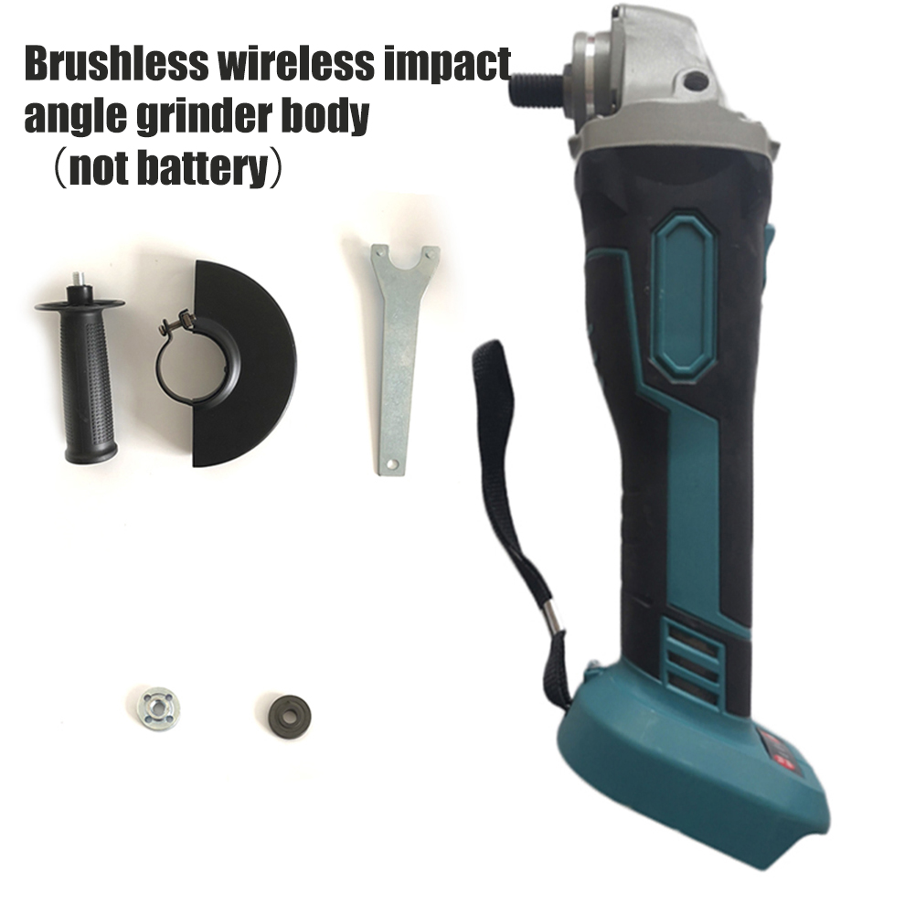 18V Brushless Cordless Impact Angle Grinder Head Set Multi-functional 125mm Power Tools Accessories Without Battery