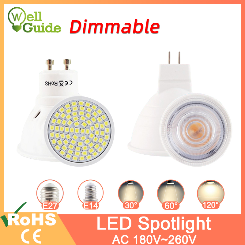 Dimmable Led Lamp MR16 E27 GU10 E14 MR11 LED Spotlight 6W 7W 8W 220V AC12V Spot LED Bulb Light Lampada Bombillas Cold Warm White