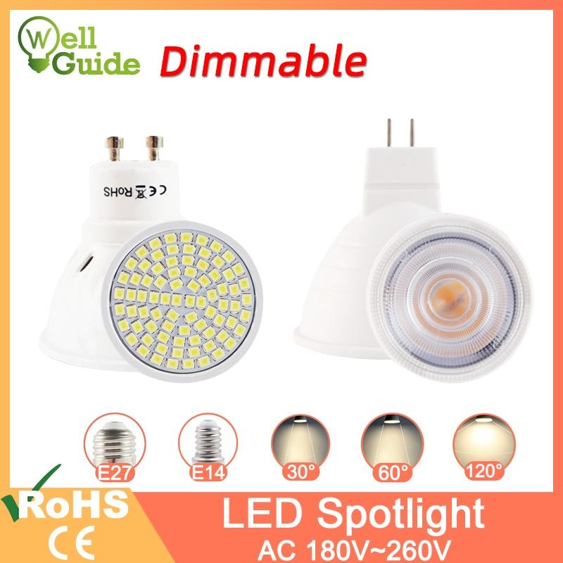 Dimmable Led Lamp MR16 E27 GU10 E14 MR11 LED Spotlight 6W 7W 8W 220V AC12V Spot LED Bulb Light Lampada Bombillas Cold Warm White
