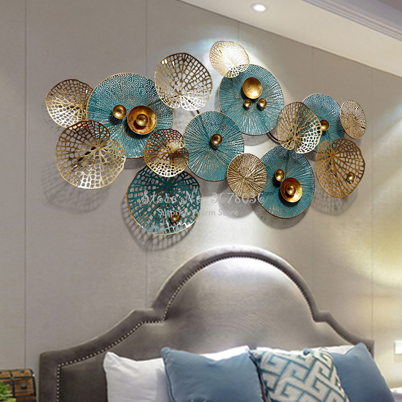 High Quality 3D Living Room Sofa Background Wall Decoration Creative Metal Wrought Iron Art Wall Decorative Ornaments