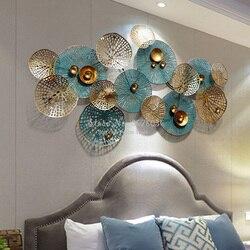 Yüksek kaliteli 3D oturma odası kanepe arka plan duvar dekorasyonu yaratıcı Metal ferforje sanat duvar dekoratif süsler