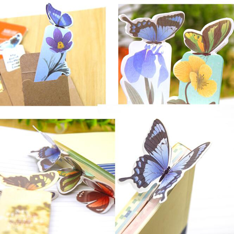 New 6pc 3d Butterfly Book For Beautiful Birthday Gift Book Christmas Gift Bookmark Color Random Send