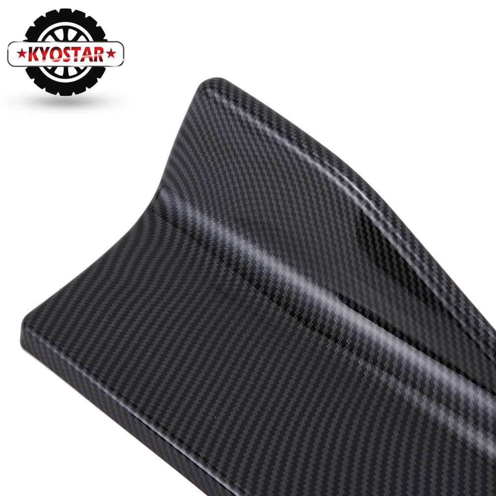 Image 3 - Universal Carbon Fiber Car Rear Lip Angle Splitter Diffuser Bumper Spoiler Winglet Wings Anti crash modified Car Body Side Skirt-in Bumpers from Automobiles & Motorcycles