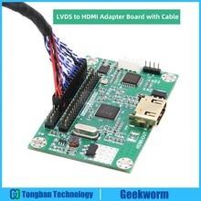 LVDS כדי HDMI מתאם לוח ממיר תואם עם 1080P 720P רזולוציה