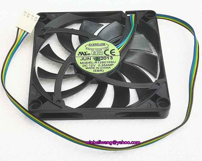 Новый бренд для POS ультра-тонком каблуке 8 см вентилятор охлаждения R128010SU 12V 0.35A 4 провода тихий вентилятор с ШИМ-управлением ~