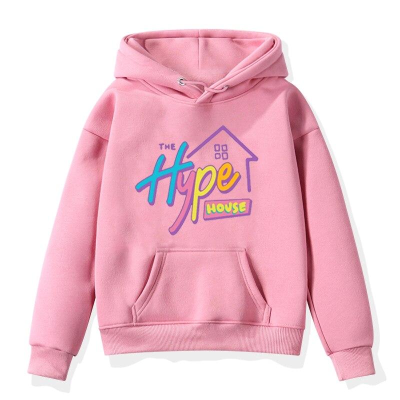 The Hype House Print Kids Hoodies Baby Girl Sweatshirt Fashion 2020 Autumn Winter Full Clothes Hoodie For Girls Boy Sweatshirts
