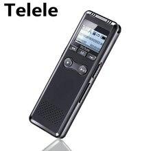 Telele Professional Dictaphone 32GB 64GB Voice Activated Mini Digital Voice Recorder Pen PCM Recording Dual MIC Denoise HIFI MP3