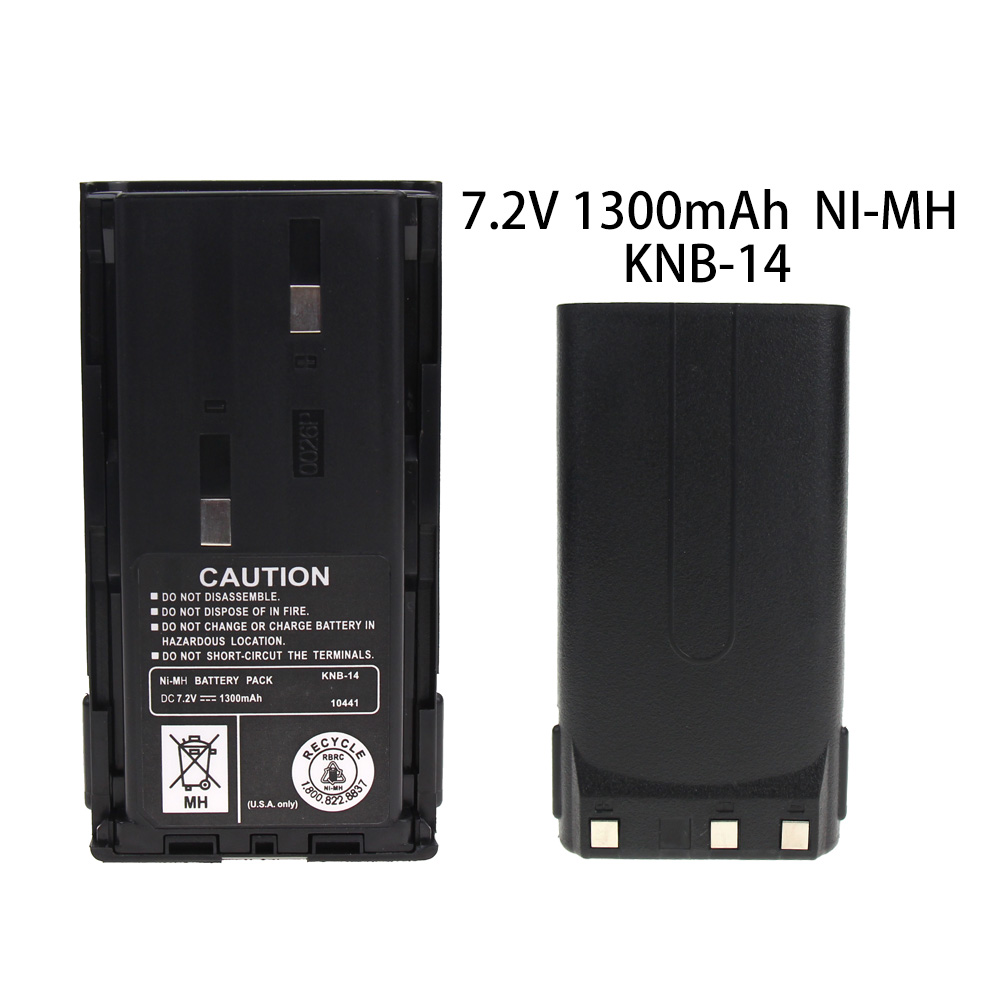 KNB-14 1300mAh Ni-MH Battery For Kenwood Radios TK-260 TK-360 TK-2100 TK-3100