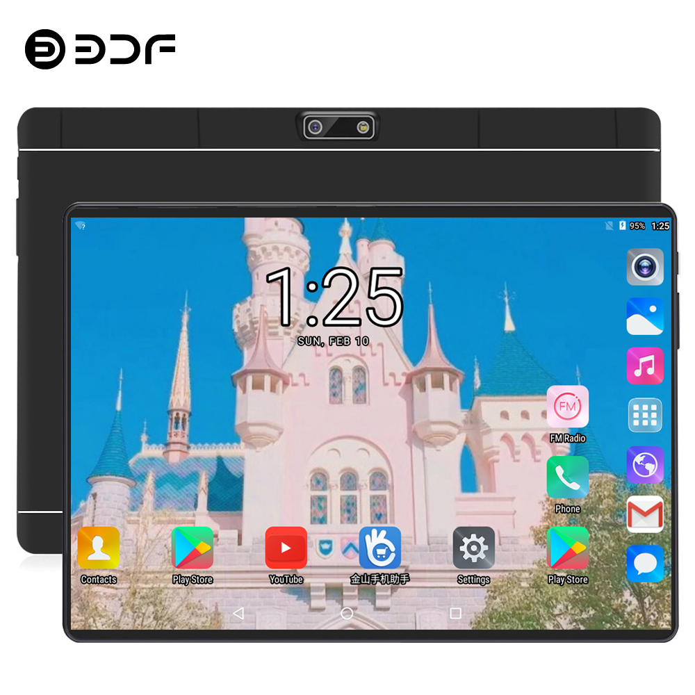 Free Shipping BDF Android 9.0 OS 10 Inch Tablet Pc Ten Core 8GB RAM 128GB ROM 10 Cores 1280*800 IPS 4G LTE SIM MID Tablets 10.1
