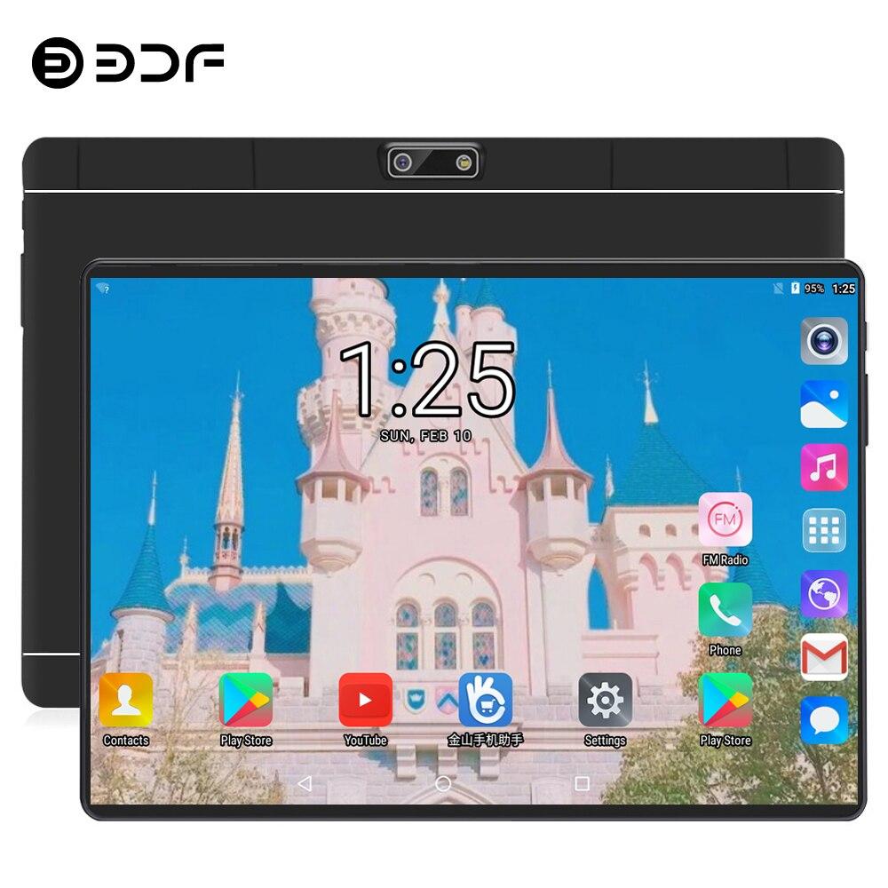 Livraison gratuite BDF Android 9.0 OS 10 pouces tablette Pc dix cœurs 8 go RAM 128 go ROM 10 cœurs 1280*800 IPS 4G LTE SIM mi tablettes 10.1
