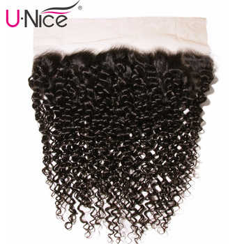 Unice Hair Brazilian Curly Hair Lace Frontal 13*4 Pre-Plucked Ear to Ear 100% Human hair Bundles Remy Hair Free Shipping - DISCOUNT ITEM  30% OFF All Category