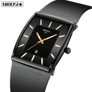 Image 1 - Blau NIBOSI Chronograph Platz Uhr Custom Design Sport Männer Uhren Wasserdicht Kreative Uhr Mann Armbanduhr Relogio Masculino