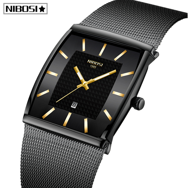 Blau NIBOSI Chronograph Platz Uhr Custom Design Sport Männer Uhren Wasserdicht Kreative Uhr Mann Armbanduhr Relogio Masculino