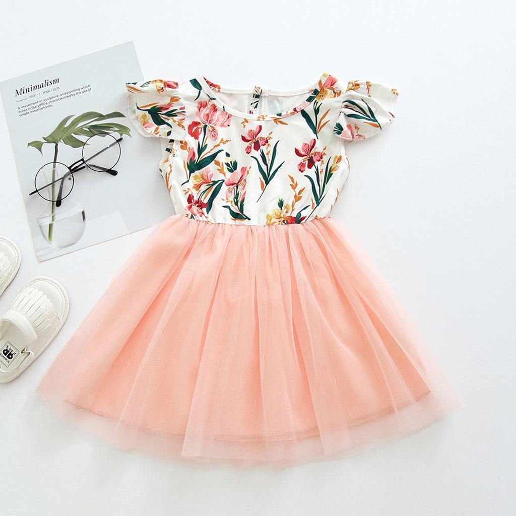 Letnia sukienka maluch dzieci ubrania dla dzieci z krótkim rękawem dla dziewczyny kwiat koronki Party księżniczka sukienka ubrania vestidos sukienki dla dzieci