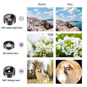 Image 3 - APEXEL 11 in 1 kamera telefon Lens kiti geniş açı makro tam renkli/grad filtre CPL ND yıldız filtresi iPhone Xiaomi için tüm akıllı telefon