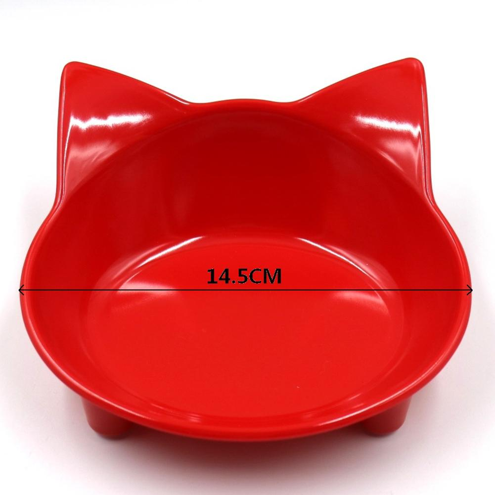 New 8Colors Cat shaped Pet Tableware Pet Bowl For Dog Cat Feeder Utensils Small Mudium Dog Food Water Bowl Pet Accessories in Dog Feeding from Home Garden
