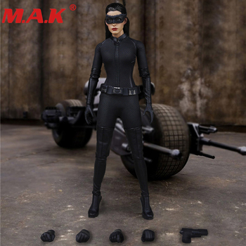 customized so toys so t01 so t03 1 6 scarlett johansson black widow battle suit clothes set for 12 inches ph doll body figure SOTOYS 1/6 Catwoman Batman SO-T06 Head Carving Clothes Set Anne Hathaway Lady Cosplay F 12 Female Figure