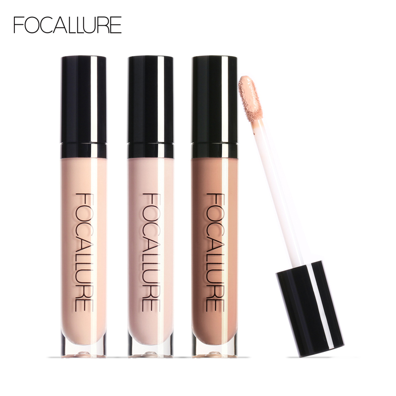 FOCALLURE Face Liquid Concealer Cream Waterproof Primer Base Dark Circle Cream Face Corrector Facial Concealer Base Makeup