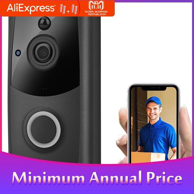 2019 Wireless Smart WiFi DoorBell IR Video Visual Ring Camera Intercom Home Security Doorbell Camera Night Vision R30