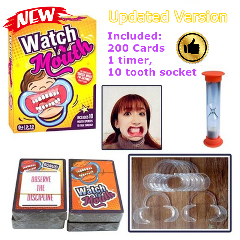 Novelty Speak Out Interaction Card Game Big Mouth Toys Party Table Game Family Gathering Toy