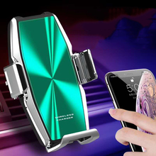 15Wรถไร้สายชาร์จโทรศัพท์อัตโนมัติClamp Qi Super Capacitor Fast Chargeผู้ถือForiphone11pro Max 11pro 11สำหรับSamsung S10