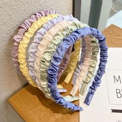 [Xwen] 2020 New Pleated Bubble Girls Headband Colorful Multi-purpose Headband Hair Clip Vantage Hair Bundle Headdress OH2022