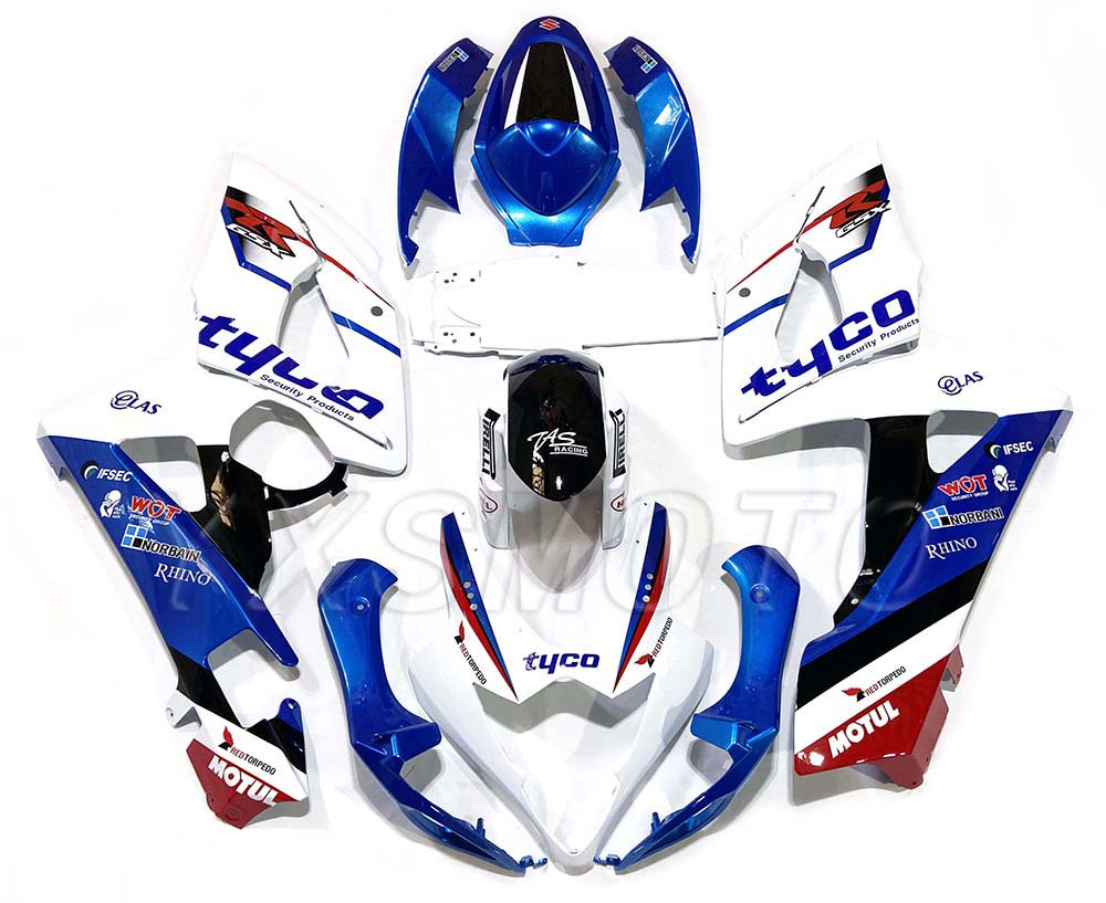 Brand New ABS Mechanical Injection Molding Fairings GSXR1000 K5 2005 2006 Blue White Bodywork Fairing Kit Gsxr 1000 05 06