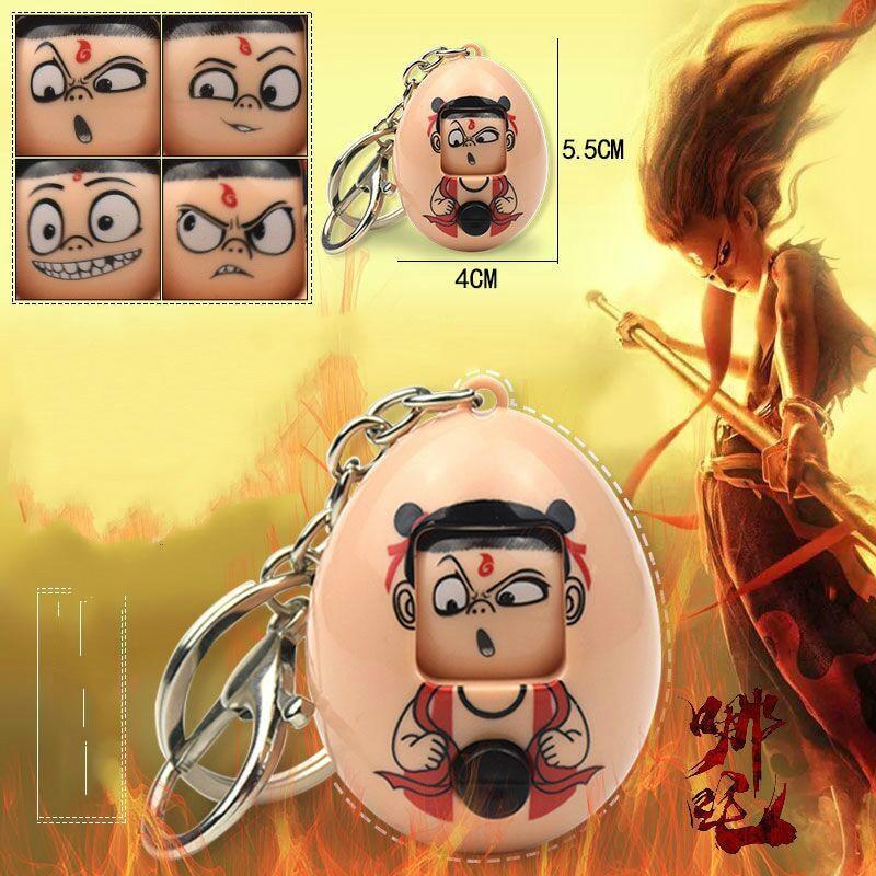 Llavero chino Myth NEZHA con forma de huevo, mitología Kawaii, dibujos animados cambiables, apariencia divertida, expresiones locas, Dropshipping, juguete chico 2019 Máscaras reutilizables divertidas de moda de 182