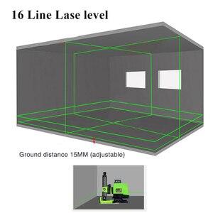 Image 4 - Nivel láser alemán de 520NM, batería de 5000MAH, 16 líneas, Línea Verde, 4D, autonivelante, 360, Horizontal y Vertical, superpotente, 2 uds.