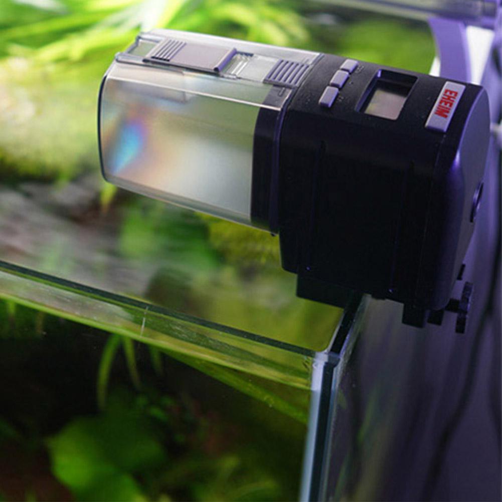 Distributeur automatique de minuterie de réservoir de poissons en plastique électrique numérique avec affichage pour Aquarium réservoir alimentation distributeur de nourriture poissons Portable